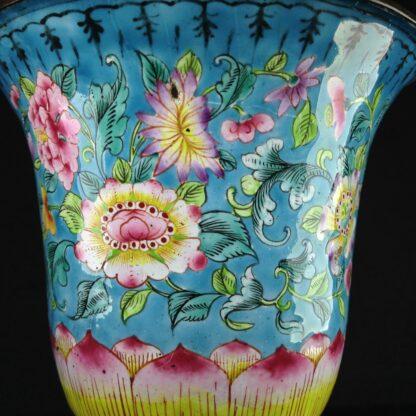 Chinese enamel goblet, lotus form, circa 1770 -2605
