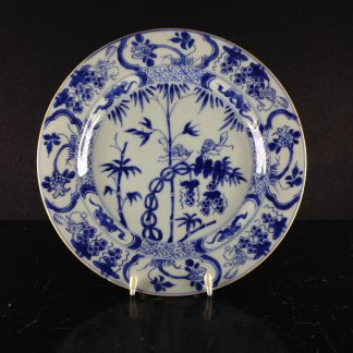 Chinese export plate, squirrel & grapes pattern, c. 1750 -0