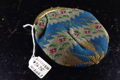 French beadwork purse, dated 1834 -2753