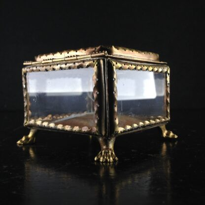 Glass Box with micro mosaic lid, gilt metal mounts, c.1880-2833