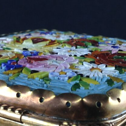 Glass Box with micro mosaic lid, gilt metal mounts, c.1880-2834