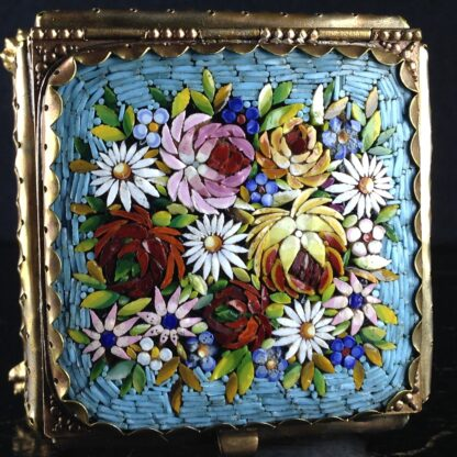 Glass Box with micro mosaic lid, gilt metal mounts, c.1880-2840