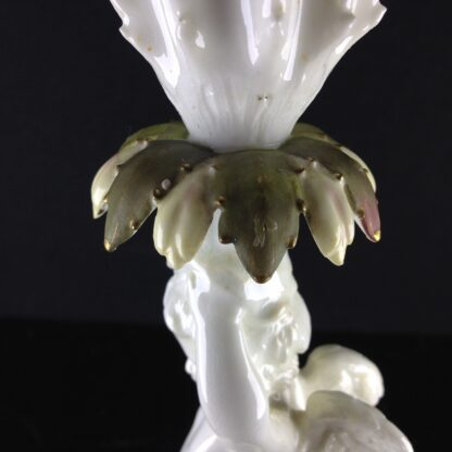 Moore Brothers cherub & cactus candlestick, c.1890 -2915