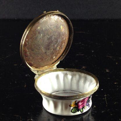 English enamel box, bird & fruit, circa 1760-3002