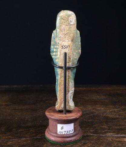 Egyptian shabti figure, blue-green, 712-332 BC-12420