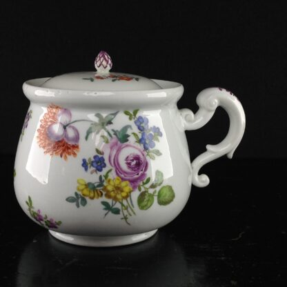 Meissen cream pot , deutscheblumen flowers, c.1765 -0