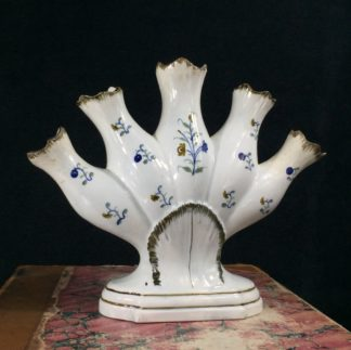 Pratt type quintal with flower painting, C.1820 -0