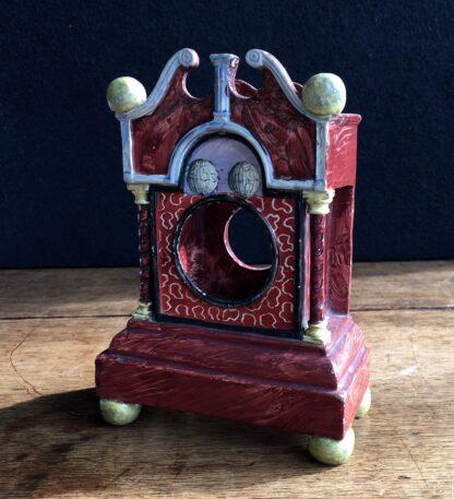 Pearlware 'bracket clock' pocket watch stand, C. 1820 -16963