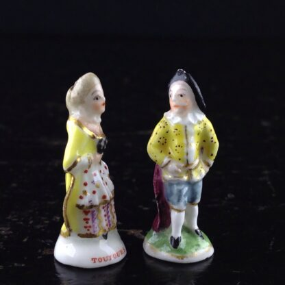 Pair of Commedia Chelsea seals - Lady & Gent, C. 1760 -3516