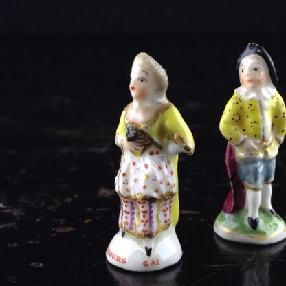 Pair of Commedia Chelsea seals - Lady & Gent, C. 1760 -3517