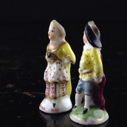 Pair of Commedia Chelsea seals - Lady & Gent, C. 1760 -3518