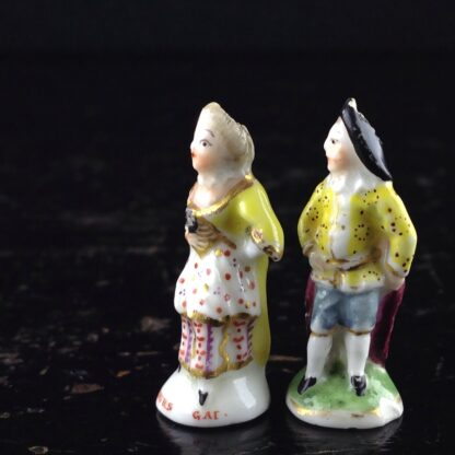 Pair of Commedia Chelsea seals - Lady & Gent, C. 1760 -3519