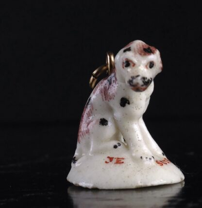 Girl-in-a-Swing fob seal, dog, JE SUIS FIDELLE, c.1755-3528