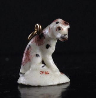 Girl-in-a-Swing fob seal, dog, JE SUIS FIDELLE, c.1755-0