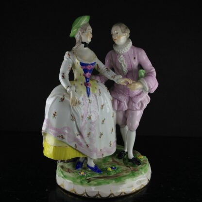 Vienna figure of a Lady & Gent, C. 1765 -0