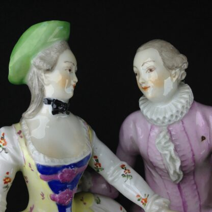 Vienna figure of a Lady & Gent, C. 1765 -3561