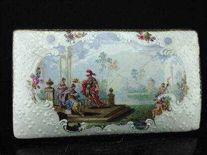 Large English enamel writing box, classical scenes, c. 1765 -3742