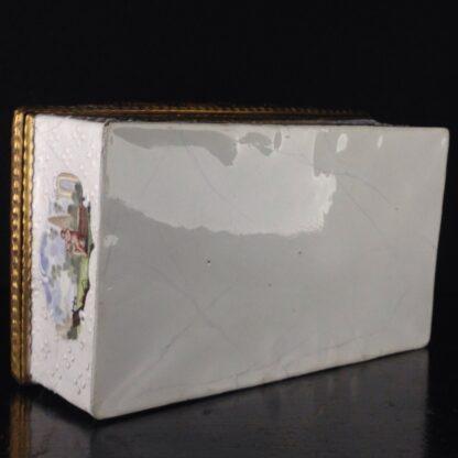 Large English enamel writing box, classical scenes, c. 1765 -3743