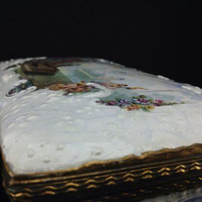 Large English enamel writing box, classical scenes, c. 1765 -3744