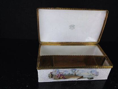 Large English enamel writing box, classical scenes, c. 1765 -3746