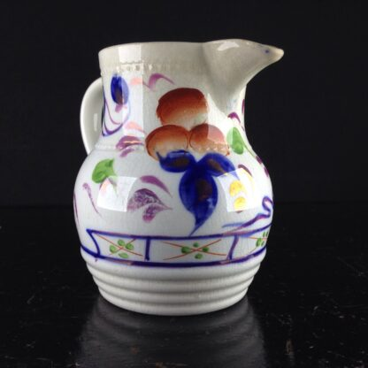 English Gaudy Welsh jug, c.1850. -3795