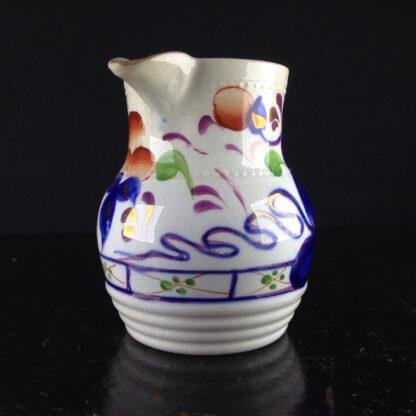 English Gaudy Welsh jug, c.1850. -3796