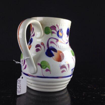 English Gaudy Welsh jug, c.1850. -3798