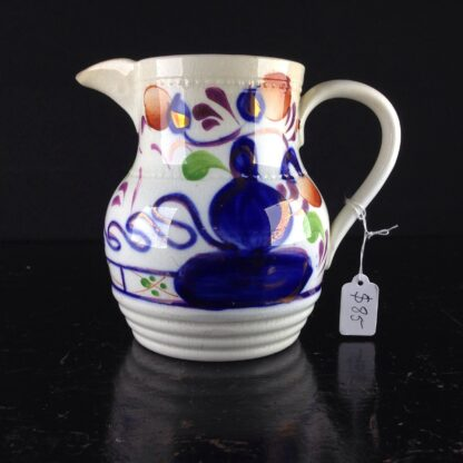 English Gaudy Welsh jug, c.1850. -0