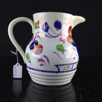 English Gaudy Welsh jug, c.1850. -3800