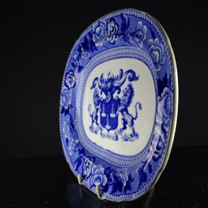 Riley Drapers Guild armorial blue & white serving dish, C. 1820 -3861
