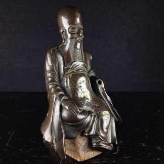 Japanese bronze sage, 18th-19th century-0