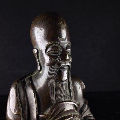 Japanese bronze sage, 18th-19th century-3971