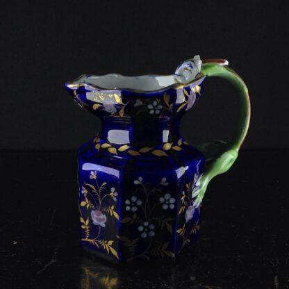 Masons Ironstone jug, blue ground with hydra handle, circa 1820. -0
