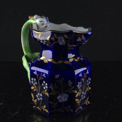 Masons Ironstone jug, blue ground with hydra handle, circa 1820. -3980