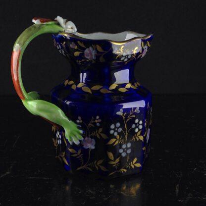 Masons Ironstone jug, blue ground with hydra handle, circa 1820. -3981