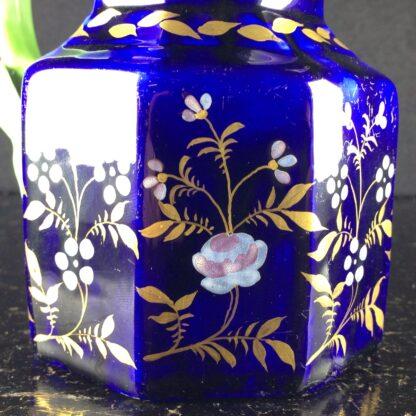 Masons Ironstone jug, blue ground with hydra handle, circa 1820. -3987