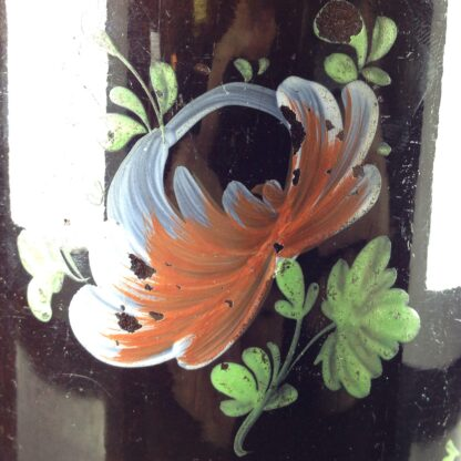 Jackfield type mug with fired enamel flowers, c. 1780 -4019