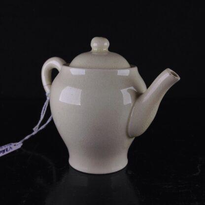 Miniature creamware teapot & cover, C. 1800 -0