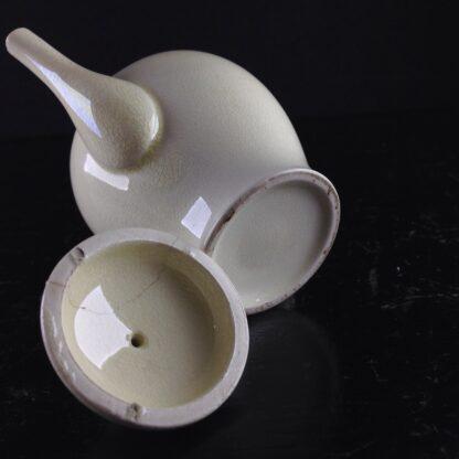 Miniature creamware teapot & cover, C. 1800 -4048