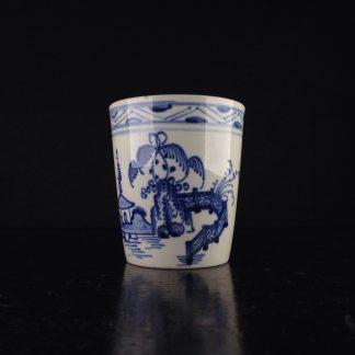 Rare creamware beaker, pagoda pattern, c. 1770 -0