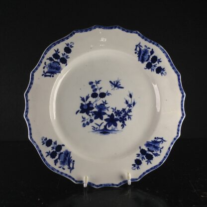 Tournai plate with garden & insect, C. 1760. -0
