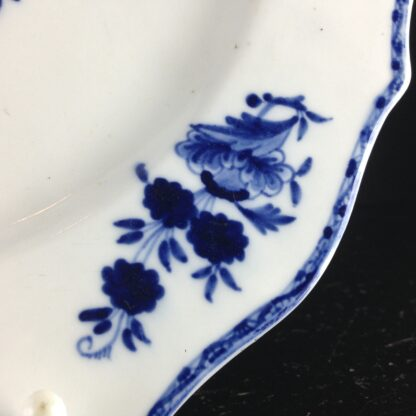 Tournai plate with garden & insect, C. 1760. -4165