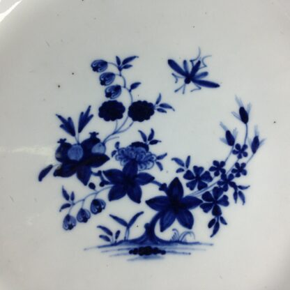 Tournai plate with garden & insect, C. 1760. -4166