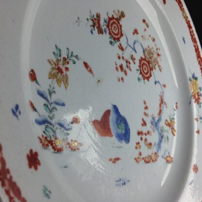 Bow quail pattern plate C. 1755. -4219