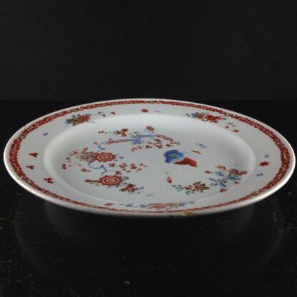 Bow quail pattern plate C. 1755. -4221
