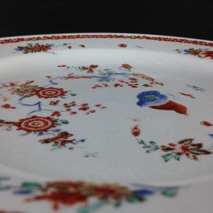 Bow quail pattern plate C. 1755. -4222