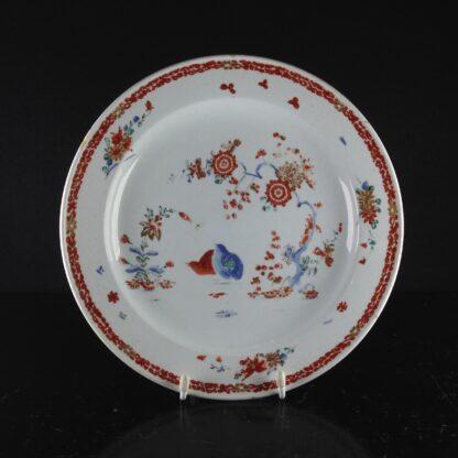 Bow quail pattern plate C. 1755. -0