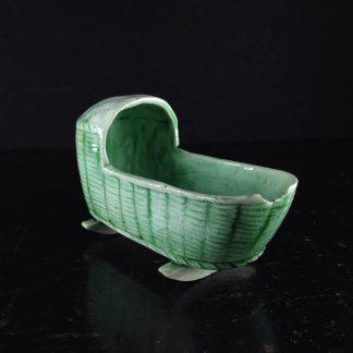 Staffordshire model cradle, C. 1760-0