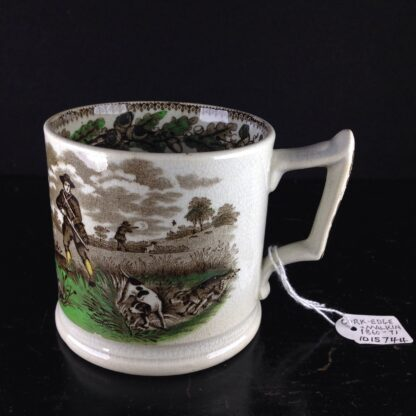 Cork, Edge & Malkin mug, 'Field Sports' prints, c.1860-71-4250