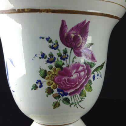 Pair of French creamware vases, c. 1800-4254
